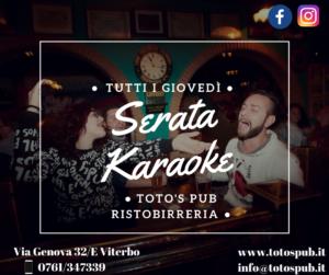 Giovedì Karaoke Toto's